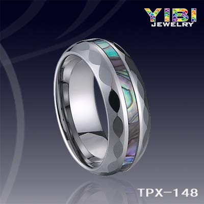 Tungsten Carbide Rings Inlaid With Shell Wedding