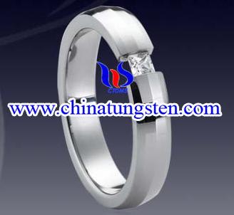 Tungsten Diamond Ring