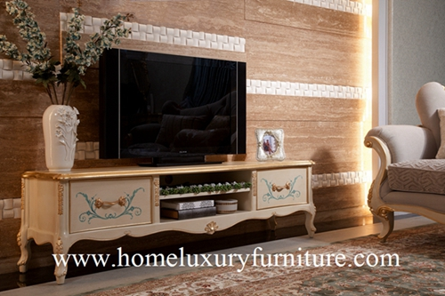 Tv Stands Living Room Furniture Neo Classical Wooden China Supplier Ftv 101