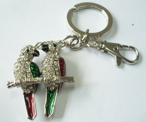 Two_lovebirds_shape Key Chain