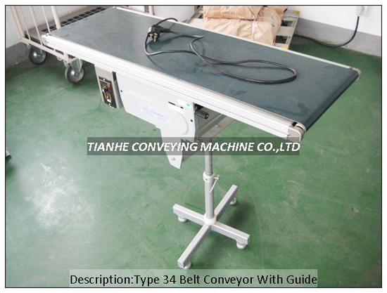 Type34 Type60 Belt Conveyor With Guide