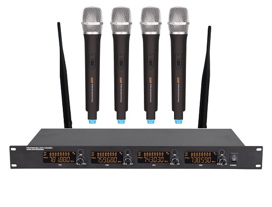 Uhf Four Channel Wireless Microphone