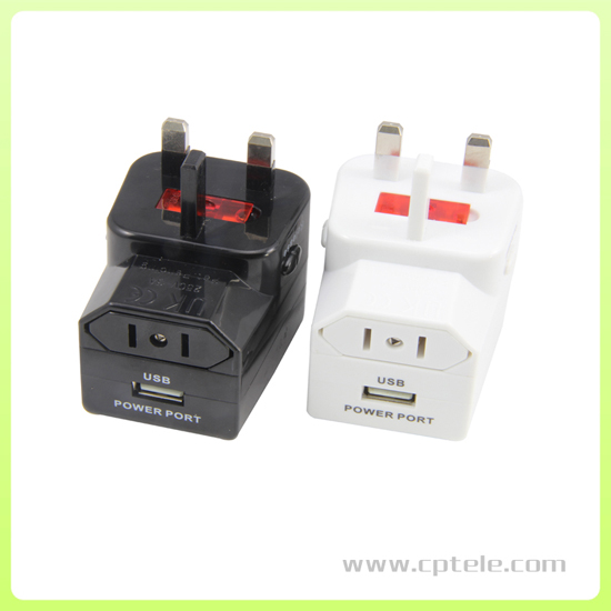 Universal Travel Adapter With One Usb Port