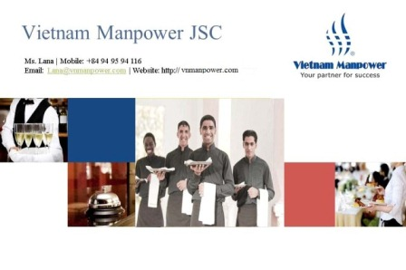 Unlimited Manpower In Hospitality Industry From Vietnam