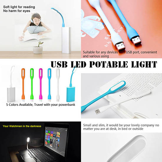 Usb Led Light 65372 Portable Flexible Table Lamp Use For Labtop