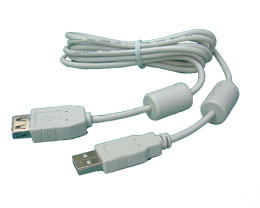Usb White Black Shielded Cable