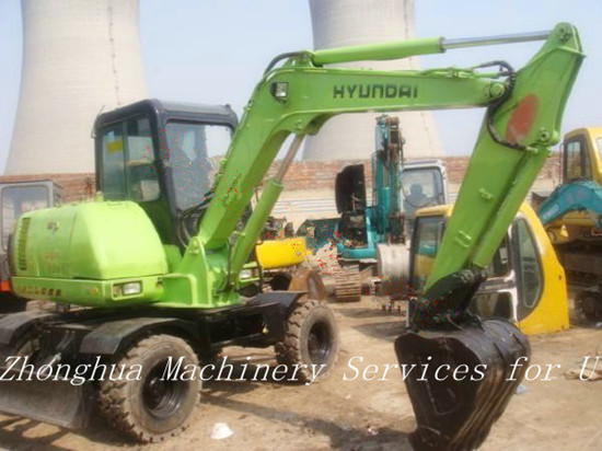 Used Hyundai Mini Wheeled R60 5 Excavator