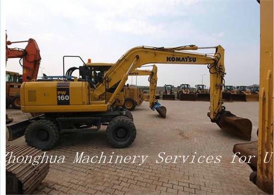 Used Komatsu Pw160 Wheeled Excavator