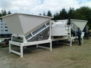 Used Semi Mobile Concrete Plant Sumab F 2200 From 2004