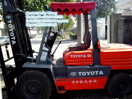 Used Toyota 5f 50ton Forklift