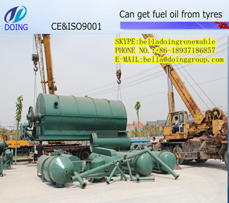 Used Tyre Recycling Machine Turn Waste Plastic To Oil