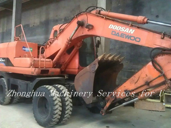 Used Wheeled Doosan Dh150w Excavator