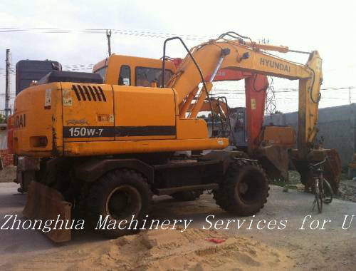 Used Wheeled Excavator 150w 7