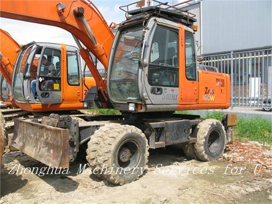 Used Wheeled Excavator Hitachi Zx160w
