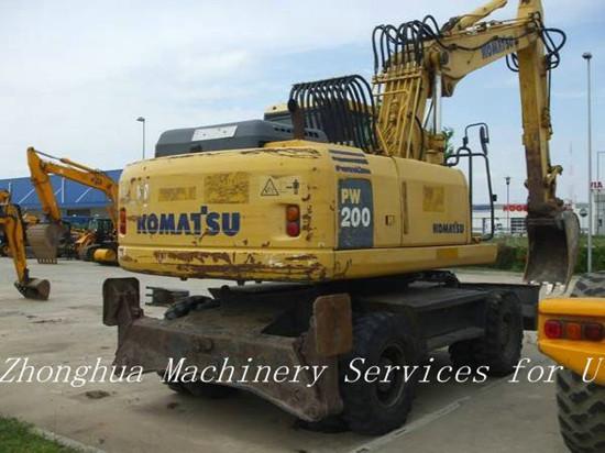 Used Wheeled Komatsu Excavator Pw200