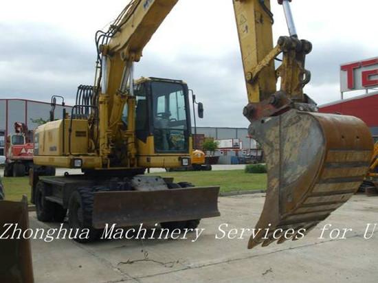Used Wheeled Komatsu Pw220 Excavator