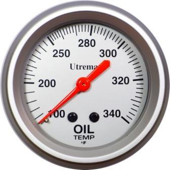 Utrema Racing Mechanical Oil Temperature Gauge