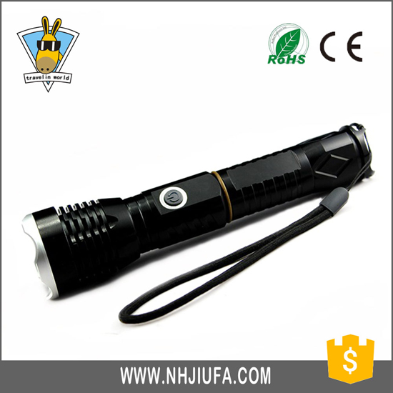 V59 Zooming Aluminum Police Rechargeable Led Torch Light Flashlight Long Distance Zoom