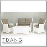 Valencia Wicker Furniture 4 Pieces Deep Seating Group With Cushions Code Td1010