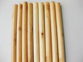 Varnished Wooden Broom Handle 120 X 2 5cm