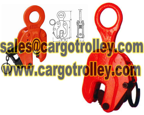 Vertical Steel Plate Lifting Clamp Details