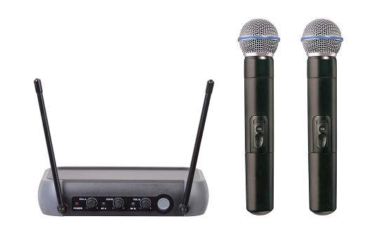 Vhf Dual Channel Karaoke Echo Wireless Microphone
