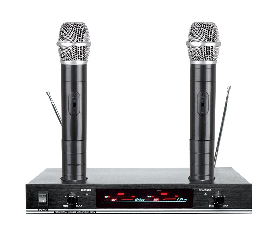 Vhf Dual Channel Karaoke Wireless Microphone