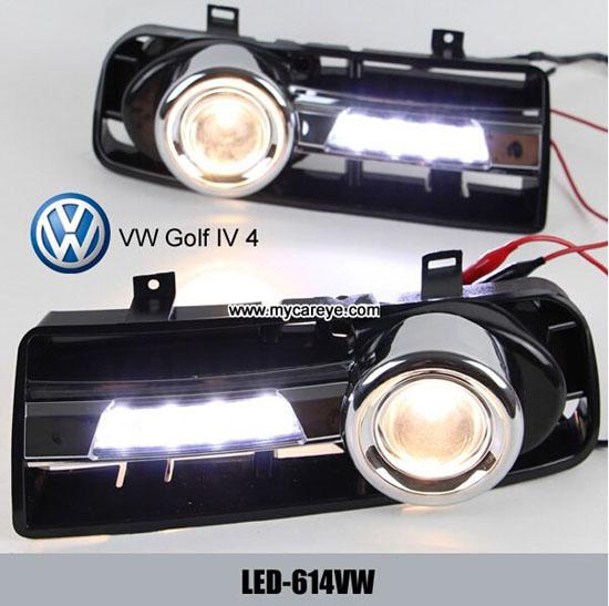Volkswagen Vw Golf 4 Iv Drl Led Daytime Running Lights Foglight For Car