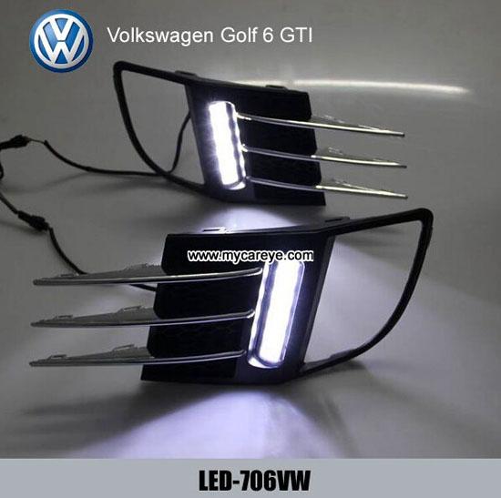 Volkswagen Vw Golf 6 Gti Drl Led Daytime Lights Car Driving Daylight