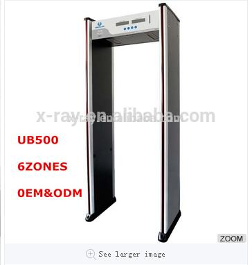 Walk Through Metal Detector Door Basic 6 Zones For Security Check With High Quality