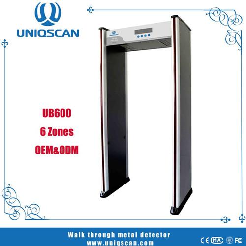 Walk Through Metal Detector Door For Security Check Basice 6 Zones
