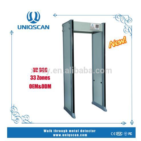 Walk Through Metal Detector Door For Security Check With 33 Zones