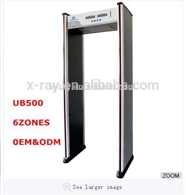 Walk Through Metal Detector Door For Security Check With 6 Zones