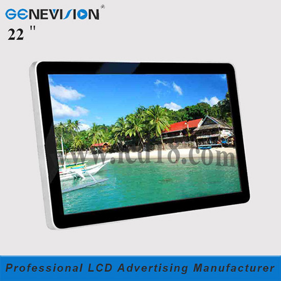 Wall Mount 22 Inch Digital Lcd Signage Kiosk Player