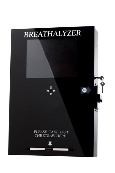 Wall Mount Vending Breathalyzer With Lcd Tv 65288 Fuel Cell Sensor Model 65289