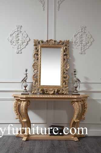 Wall Table Console With Mirror Decorations Classic Italian Style Ao301