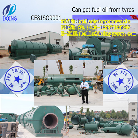 Waste To Oil Machine Turn Tyre Plastic