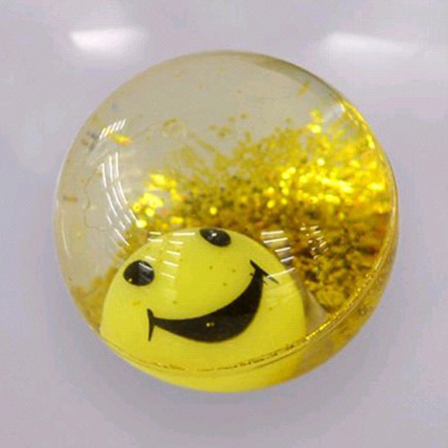 Water Bouncing Ball Smile Face Led Inside