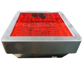 Water Bubble Coffee Tea Table With Safety Round Stainless Steel Corner