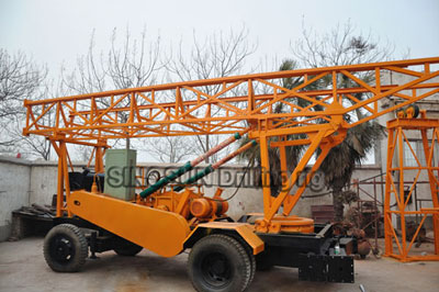 Water Well Drilling Rig S400 Trailer Mounted