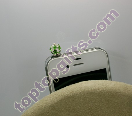 Waxberry Rhinestone Anti Dust Cap Iphone Decoration