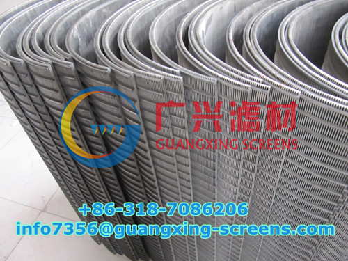 Wedge Wire Sieve Screens Curved Screen