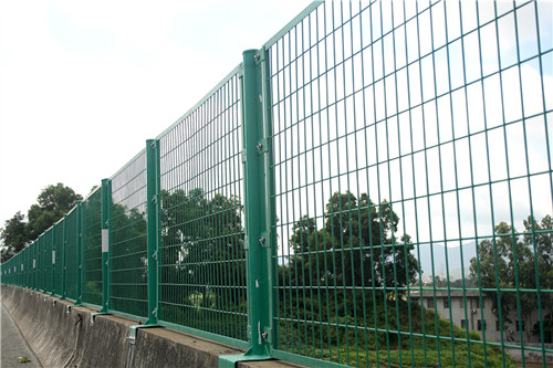Welded Wire Mesh Fence Peach Type Post