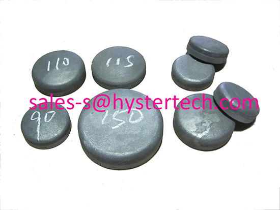 White Iron Laminated Wear Buttons