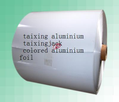 White Lacquer Aluminium Foil Mateiral
