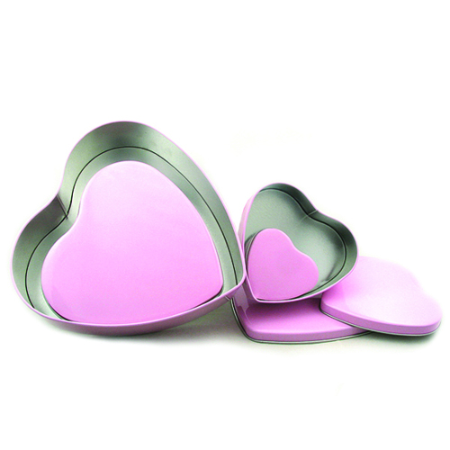 Wholesale Heart Shape Chocolate Tin Case