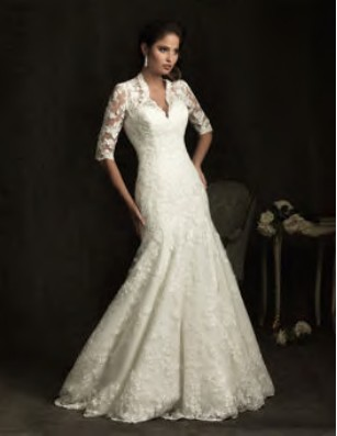 Wholesale Lace Mermaid V Neck Wedding Dress Custom
