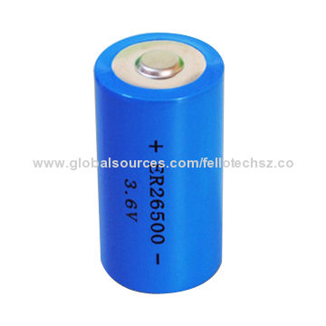 Wide Temperature Range Non Rechargeable Li Socl2 Lithium Battery A Size Er18505 For Electronic Cars