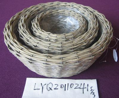 Willow Flower Basket Wicker Garden Pot Planter