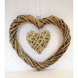Willow Garden Basket Wicker Weaving Heart Home Decorations